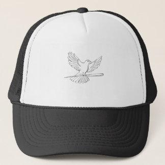 Boné Vôo do pombo ou da pomba com desenho do bastão