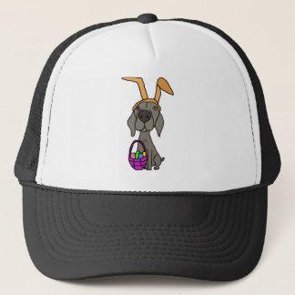 Boné Weimaraner engraçado bonito com orelhas do coelho