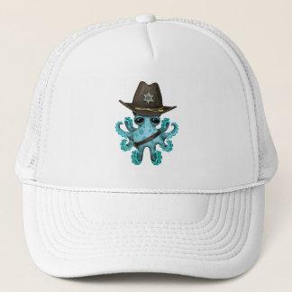 Boné Xerife bonito do polvo do bebê azul