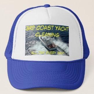 """Boné yacht, ó limpeza do iate da costa, """"o dia inteiro"""