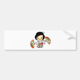 Boneca com Kimono Adesivo Para Carro