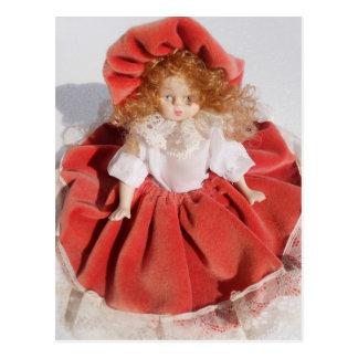 boneca da porcelana cartão postal