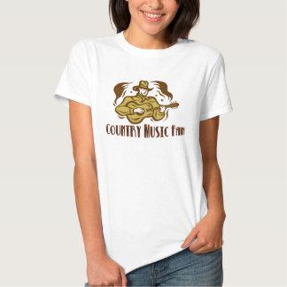 Boneca das senhoras do fã de música country camisetas