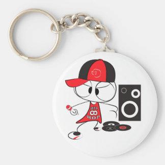 Boneca do rapper do hip-hop chaveiro