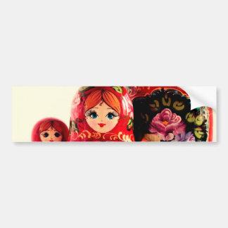 Boneca do russo de Babushka Adesivo Para Carro