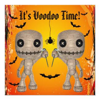 Bonecas bonitos do Voodoo, bastões & partido do Convite Quadrado 13.35 X 13.35cm
