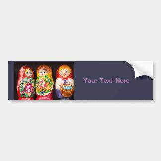 Bonecas coloridas de Matryoshka Adesivo Para Carro