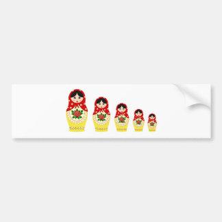 Bonecas de Matryoschka vermelhas Adesivo Para Carro