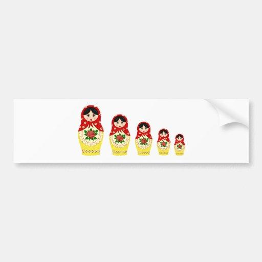 Bonecas de Matryoschka vermelhas Adesivos