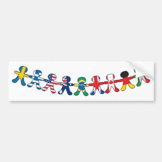 Bonecas de papel da bandeira adesivo