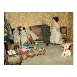 Bonecas do Bisque no cartão do Natal -