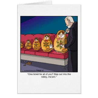 Bonecas engraçadas Scam do assentamento do cartão