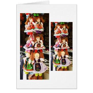 Bonecas húngaras cartão comemorativo