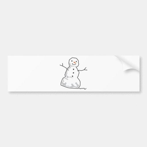 Boneco de neve adesivo