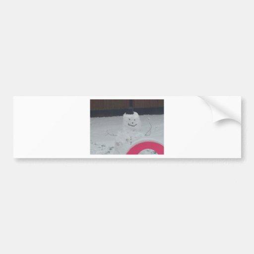 boneco de neve assustador adesivos