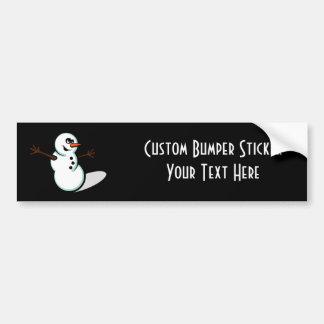 Boneco de neve bonito do vetor - cor adesivo para carro