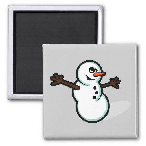 Boneco de neve bonito do vetor - cor imas