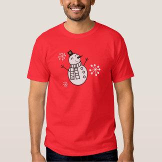 Boneco de neve camisetas