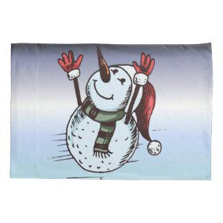 Boneco de neve com chapéu do papai noel - nariz da