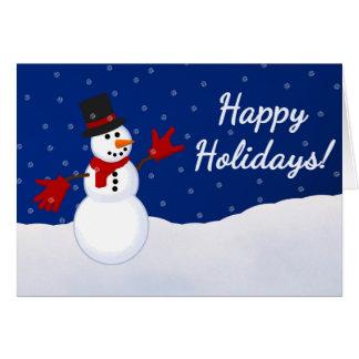 Boneco de neve com eu te amo o cartão de Natal do