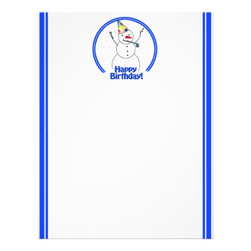 Boneco de neve da festa de aniversário papel de carta