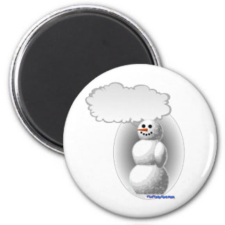 Boneco de neve de fala ímã redondo 5.08cm