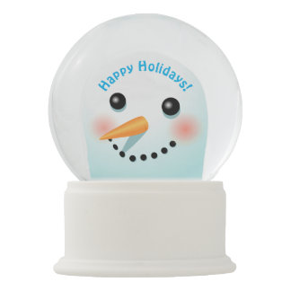 Boneco de neve de sorriso legal com nariz da