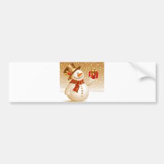 Boneco de neve do Natal Adesivo Para Carro