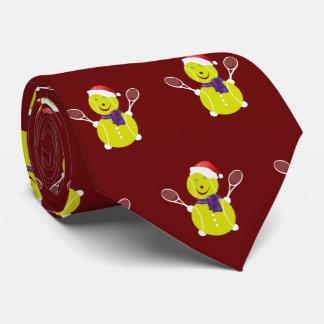 Boneco de neve do Natal do tênis Gravata