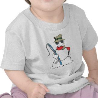boneco de neve do pescador tshirts