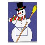 Boneco de neve dos pedreiro cartoes