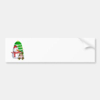 Boneco de neve e urso do Natal Adesivo