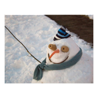 Boneco de neve - eu estou pronto para meu close up modelos de panfleto