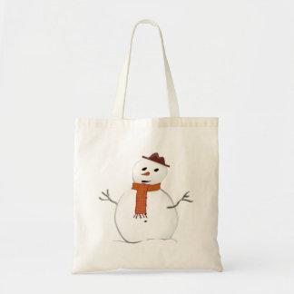 Boneco de neve gelado bolsas para compras