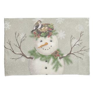 boneco de neve moderno do wintergarden do vintage