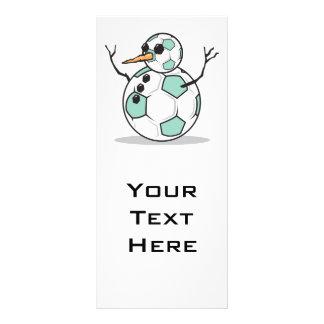 boneco de neve parvo da bola de futebol planfeto informativo colorido