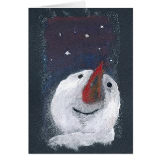 Boneco de neve reflexivo do cartão