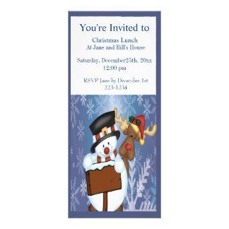 Boneco de neve & rena 10.16 x 22.86cm panfleto