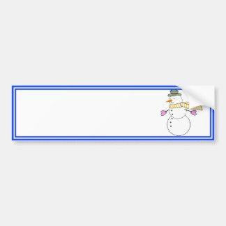 Boneco de neve Running w/Scarf no vento Adesivos