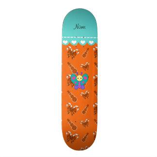 Bonecos de neve alaranjados dos bastões de doces shape de skate 21,6cm