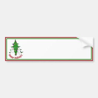 Bonecos de neve com a família da árvore de Natal Adesivo
