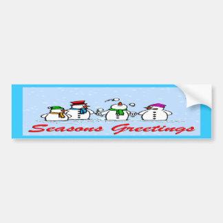 Bonecos de neve de mnanipulação adesivo
