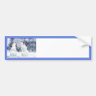 Bonecos de neve de Snowglobe que alcançam para for Adesivo