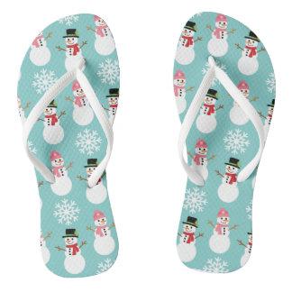 Bonecos de neve do Natal Chinelos