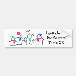Bonecos de neve engraçados adesivo