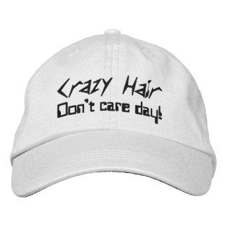 Bonés cómicos do cabelo louco