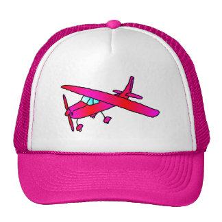 Bonés cor-de-rosa do boné do plano dos aviões do