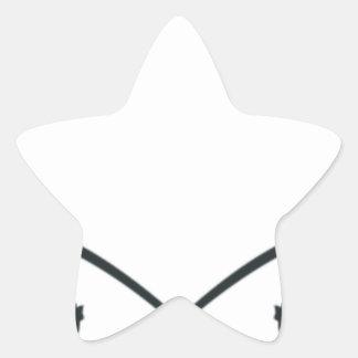 Bonés das camisas do logotipo do laço adesito estrela
