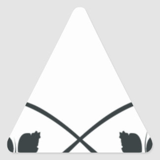Bonés das camisas do logotipo do laço adesivo triangular