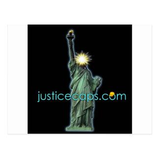 Bonés de justiça: Meios de justiça que vivem livre Cartao Postal